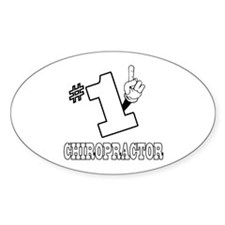 #1 - CHIROPRACTOR Oval Decal