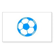 Blue Soccer Ball Rectangle Decal