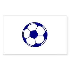 Blue Soccer Ball Rectangle Decal