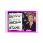 """""""Hillary's qualifications"""" Rectangle Mag"""