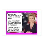 """""""Hillary's qualifications"""" Postcards (Pa"""