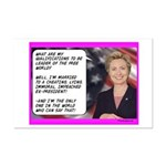 """""""Hillary's qualifications"""" Mini Poster P"""