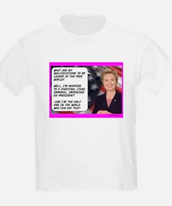 """Hillary's qualifications"" T-Shirt"