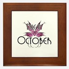 Due In October Fairy Wings Framed Tile