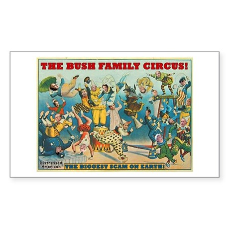 Bush Family Circus Rectangle Sticker