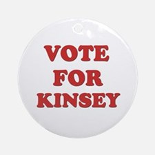 Vote for KINSEY Ornament (Round)
