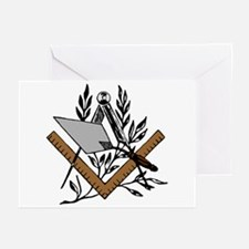 Masonic S&C with Trowel Greeting Cards (Pk of