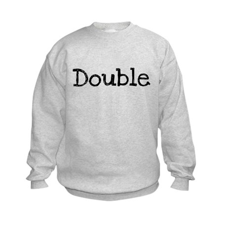 DOUBLE (FOR TWINS) Kids Sweatshirt
