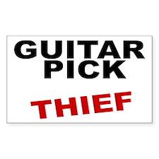 GUITAR PICK THIEF rock guitarist Decal