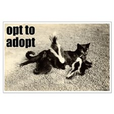 Opt To Adopt Cat Large Poster