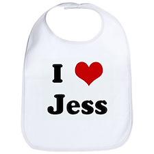 I Love Jess Bib