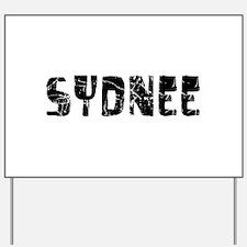 Sydnee Faded (Black) Yard Sign