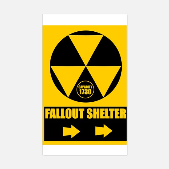 Fallout Shelter Sign Rectangle Decal