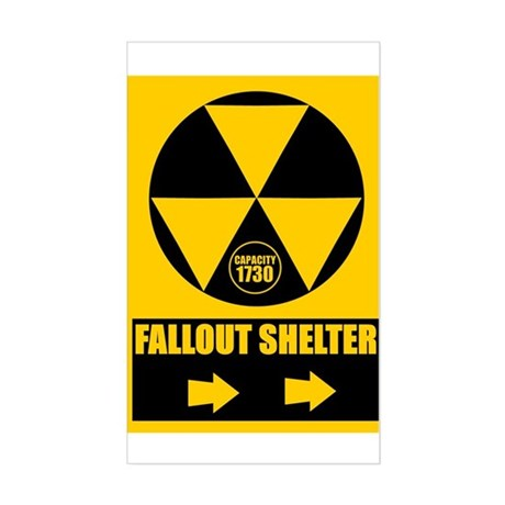 Fallout Shelter Sign Rectangle Sticker