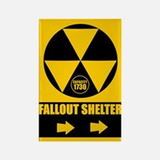 Fallout Shelter Sign Rectangle Magnet
