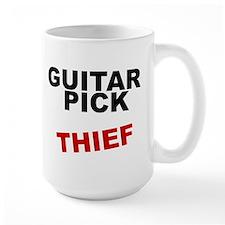 GUITAR PICK THIEF rock guitarist Mug