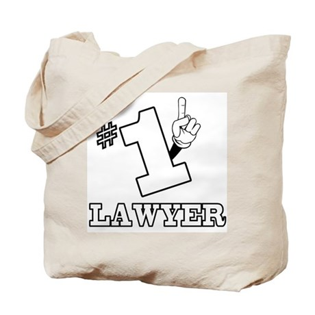 #1 - LAWYER Tote Bag