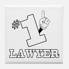 #1 - LAWYER Tile Coaster