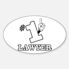 #1 - LAWYER Oval Decal