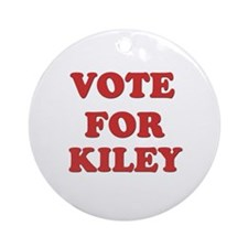 Vote for KILEY Ornament (Round)