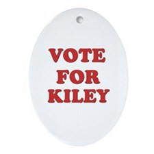 Vote for KILEY Oval Ornament