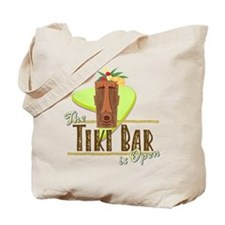 The Tiki Bar is Open - Tote or Beach Bag