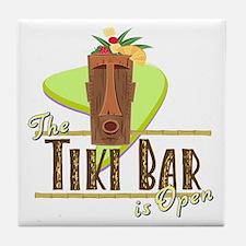 The Tiki Bar is Open - Tile Coaster