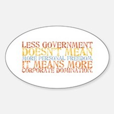 Less Government Oval Decal