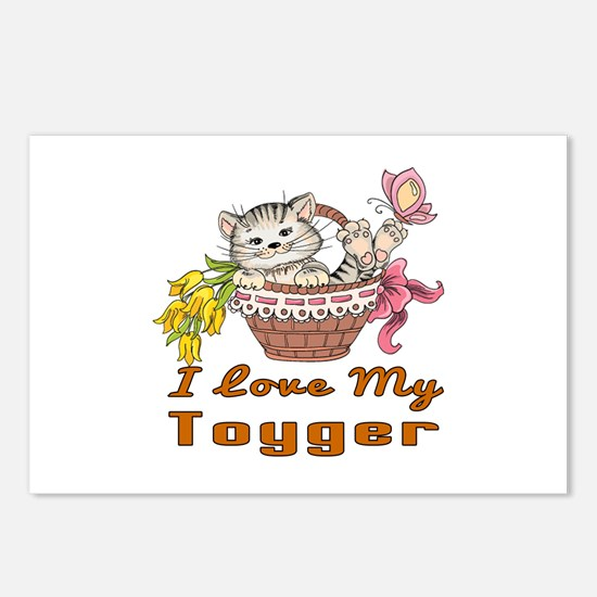 I Love My Toyger Designs Postcards (Package of 8)