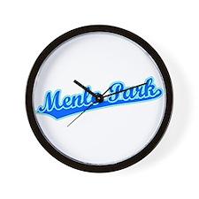 Retro Menlo Park (Blue) Wall Clock
