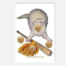 Baseball Ferret Postcards (Package of 8)
