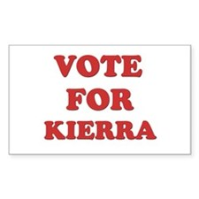 Vote for KIERRA Rectangle Decal