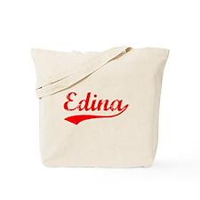 Vintage Edina (Red) Tote Bag