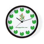 Froggyville Wall Clock
