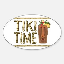 Tiki Time - Oval Decal