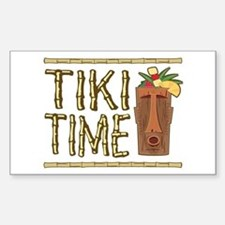 Tiki Time - Rectangle Decal