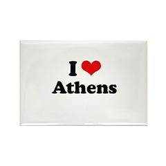 I love Athens Rectangle Magnet (100 pack)