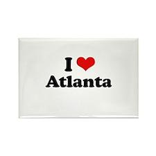 I love Atlanta Rectangle Magnet