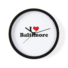 I love Baltimore Wall Clock