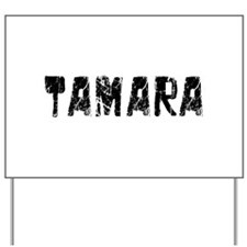 Tamara Faded (Black) Yard Sign