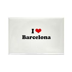 I love Barcelona Rectangle Magnet (10 pack)