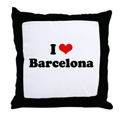 I love Barcelona Throw Pillow