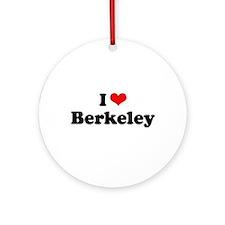 I love Berkeley Ornament (Round)
