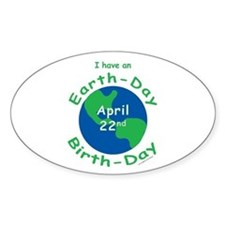 Earth Day Birthday Decal