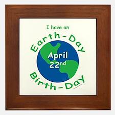 Earth Day Birthday Framed Tile