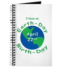 Earth Day Birthday Journal
