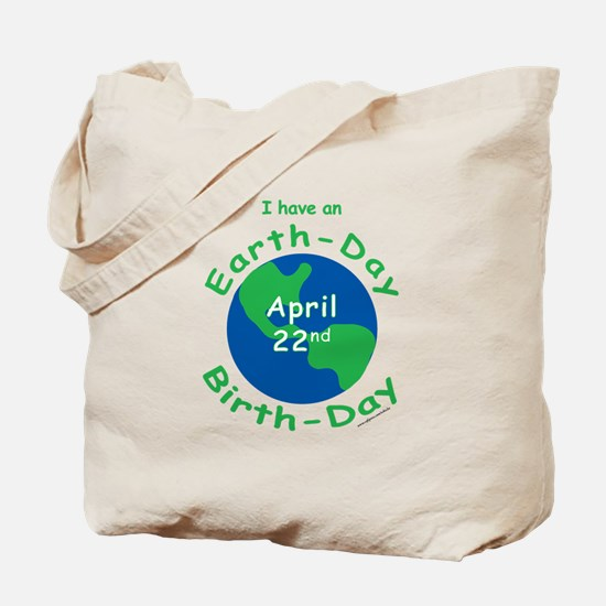 Earth Day Birthday Tote Bag