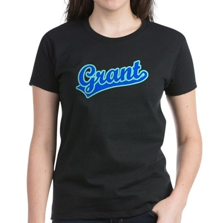 Retro Grant (Blue) Women's Dark T-Shirt