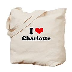 I love Charlotte Tote Bag