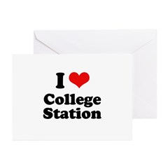 I love College Station Greeting Cards (Pk of 20)